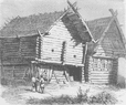 RUSSIA: House in Northern Russia,  antique print 1894